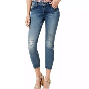 LUCKY BRAND Lolita Ripped Cropped Curvy Blue Jeans